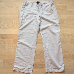 Gap Linen Trousers Cream | Sz 8